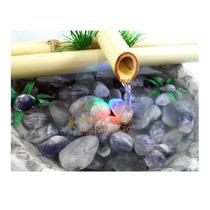 Fonte Bambu Ametista Pedra Meditação Água Luz Yoga Feng Shui