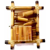 Fonte Agua Decorativa Bambu Parede 3 Quedas Nova