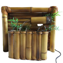 Fonte De Água Bambu De Parede
