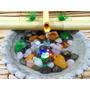 Fonte Bambu Luz Meditação Pedras Semi Preciosas Água Rela