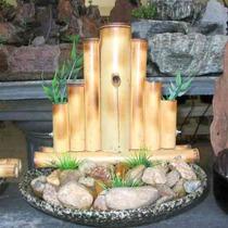 Fonte De Água Feng Shui - Bambu Cerca - 100% Positivo