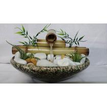 Fonte De Bambu Feng Shui Cerâmica Pedras 1 Bica Ótimo Preço