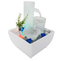 Fonte De Agua Decorativa Cascata Quedas Luz Led Ceramica