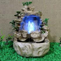 Fonte De Água Cascata Luz Pedra Cristal Gruta Resina