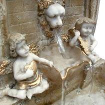Fonte De Água Feng Shui Leão Com Anjos- Frete Barato
