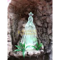 Gruta Água Nossa Senhora Aparecida Resina Cascata Luzes Led