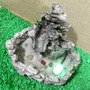Fonte De Água Pedra Cascata Decoração Com Luz Led Cristal