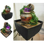Fonte Decorativa Led Efeito Luminoso Casal Sapinhos 17cm