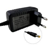 Fonte Carregador Dvd Portatil 9v 2a Bivolt Plug 2.5x0.8mm