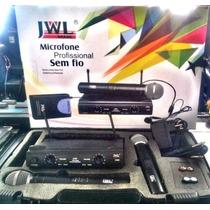 Microfone Duplo Sem Fio Uhf Jwl U 585 De Excelente Qualidade