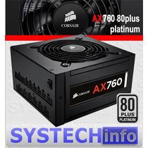 Fonte Corsair Ax 760 80plus Platinum Pfc Ativo 760w