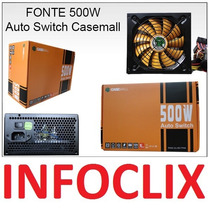 Fonte Atx 500w Reais Auto Switch All500ttpsw Real Casemall