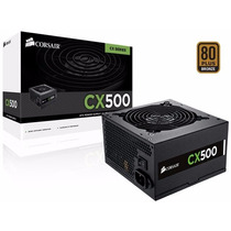 Fonte Corsair Atx 500w Cx-500 - Cp-9020047-ww 80 Plus Bronze