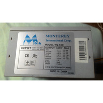 Fonte Atx 650w Normal Mtek 20/24 Pinos - 460w Reais Perfeita