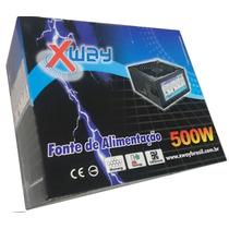 Fonte Atx Gamer Box 500w Real Super Silenciosa 24p + Pci-e