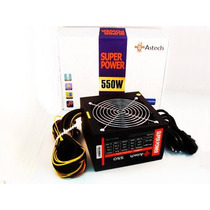 Fonte Atx Real 550w Pc Gamer 24 Pinos Sata Bivolt Astech