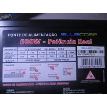 Fonte Bluecase 500w Reais 24 Pinos