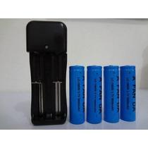 Kit Carregador Duplo+4 Baterias 18650 3,7v 7800mah Uitrafire