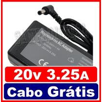 Fonte Carregador 20v 3,25 Notebook Lenovo G485 G480 - 65w