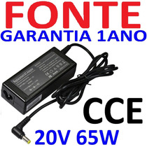 Fonte Notebook Cce Win Ncv Bps Ilp Bpl D35b T546 20v 3.25a