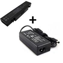 Kit Bateria + Fonte Carregador Para Notebook Samsung Rv410