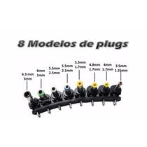 Kit 8 Conector Plug Pino Reposição Fonte Universal Notebook