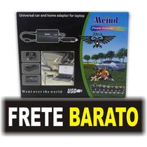 Fonte Universal Notebook/monitor + Carregador Pra Carro 120w