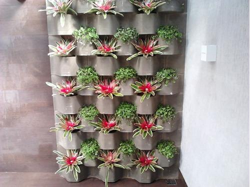 jardim vertical bloco : jardim vertical bloco:Forma Para Bloco Jardim Vertical ! Bloco Decorativo De 15 – R$ 299,99