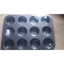 Foma Para Cupcake Com 12 Cavidades Antiaderente