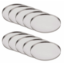 Kit 10 Fôrmas Para Mini Pizzas-forminhas Em Alumínio 16cm
