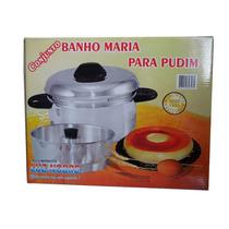 Conjunto Forma Para Pudim Banho Maria 2x1 Em Aluminio Oferta