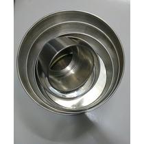 Jogo De Forma Redonda 5 Pçs Fundo Falso Aluminio 10 Altura