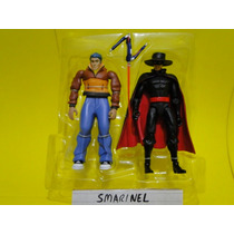 Kit 02 Bonecos Zorro Gulliver Don Diego Articulados Membros