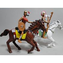 Par Romantico Apache Indio & India + Cavalos Escala 1:18