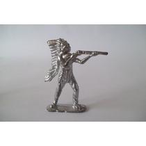 Soldado Chumbo #10 Forte Apache Índio C Rífle Atirando 6,5cm