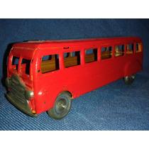 Brinquedo De Lata Ônibus Vermelho Tipo Metalma.