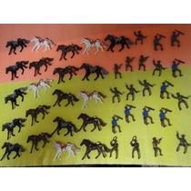 21 Cowboys E 21 Cavalos Apache Cavalaria Tamanho Gulliver