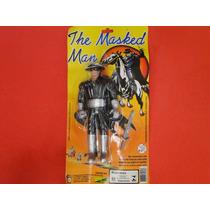 Boneco Mascarado Zorro 19cm E Espada 08cm