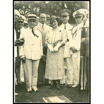 Foto Antiga - Getúlio Vargas E Militares