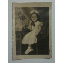 Fotografia Antiga - Criança Ao Telefone