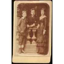Fotografia Antiga Carte De Visite Atelier Fritz Família