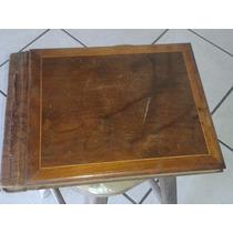 (only Wood) Albun De Fotografia Antigo Capa De Madeira