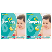 Fralda Pampers Total Confort Mensal C/168 Unid. Tamanho M