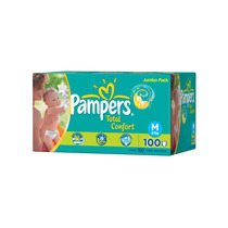 Fraldas Pampers Total Confort Caixa M-100