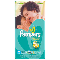 Fralda Pampers Total Confort M 98 Unidades