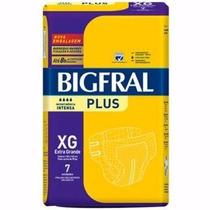 10 Fralda Geriátrica Bigfral Xg Com 7 Unidades - Acima 90 Kg