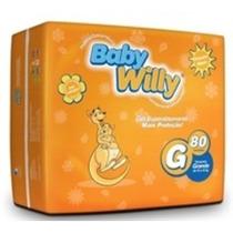 Fralda Descartável Infantil Tam G, 80 Unid - Baby Willy
