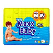 Pacotão De Fraldas 80 Unidades. Maxx Baby + Brinde