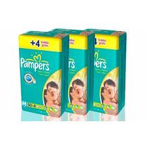 162 Fraldas Pampers Total Confort Mega Tamanho M / 3 Pcts 54