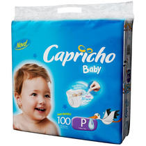 Fralda Capricho Baby Super Jumbo P 100 Unidades